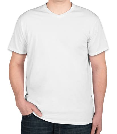 6daeed8c14218d Custom Hanes V-Neck Nano-T - Design Short Sleeve T-shirts Online at ...