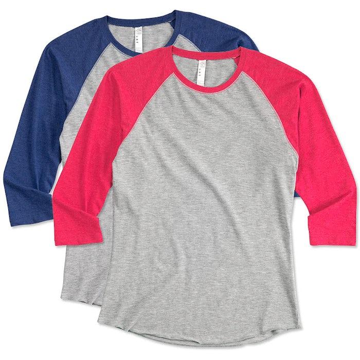 1c13c2c4 Custom LAT Women's Baseball Raglan - Design Women's Long Sleeve T ...