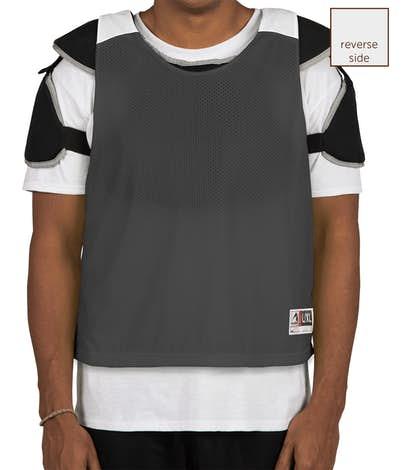 Augusta Reversible Colorblock Practice Pinnie - Black / White