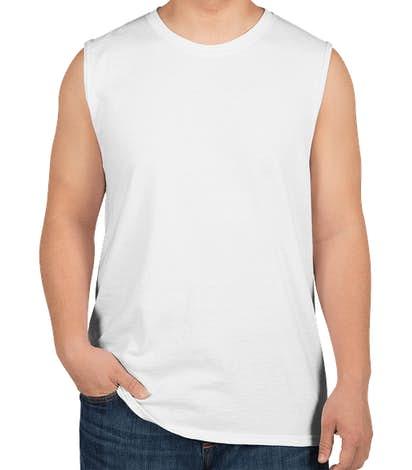 Jerzees 50/50 Muscle Tank - White