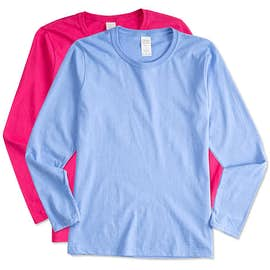 Gildan Women's 100% Cotton Long Sleeve T-shirt