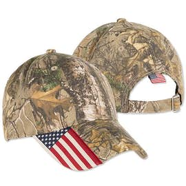 Outdoor Cap Realtree Xtra® Camo American Flag Hat