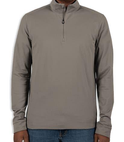 Cutter & Buck Advantage Charged Cotton Quarter Zip Pullover - Elemental Grey