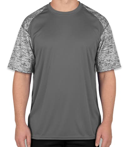 Badger Heather Sleeve Performance Shirt - Graphite / Graphite Blend