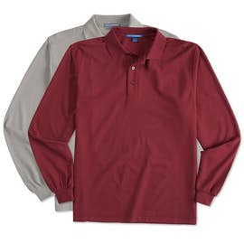 Port Authority Silk Touch Long Sleeve Polo