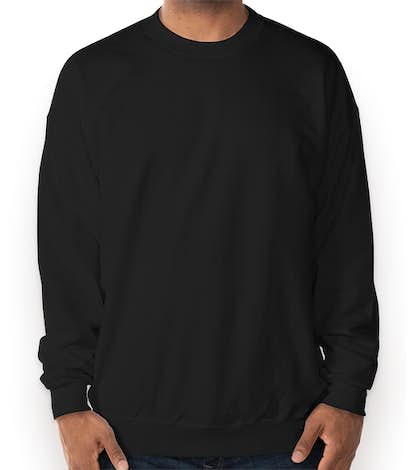 Hanes Ultimate Heavyweight Crewneck Sweatshirt - Black