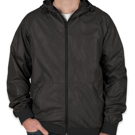 Sport-Tek Embossed Full Zip Hooded Jacket - Color: Black / Black