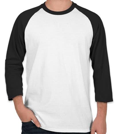 Port & Company 50/50 Baseball Raglan - White / Jet Black