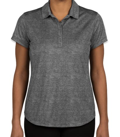 Nike Golf Dri-FIT Women's Crosshatch Performance Polo - Cool Grey / Anthracite