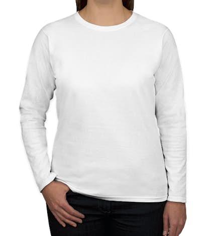 Canada - Gildan Women's 100% Cotton Long Sleeve T-shirt - White
