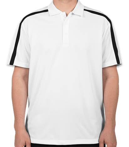 Port Authority Silk Touch Colorblock Performance Polo - White / Black