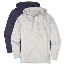 Augusta Tonal Heather Hooded Performance Shirt