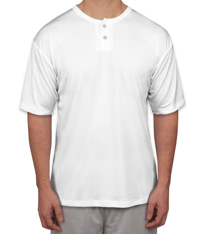 Badger B-Dry Performance Baseball Henley - White