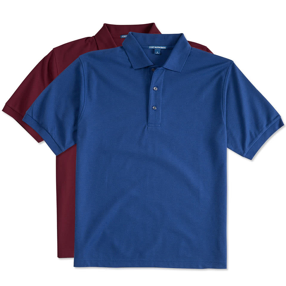 Port Authority\u00ae Silk Touch\u2122 Long Sleeve Polo  K500LS  Custom Polo  Embroidery Polo  Monogram Polo