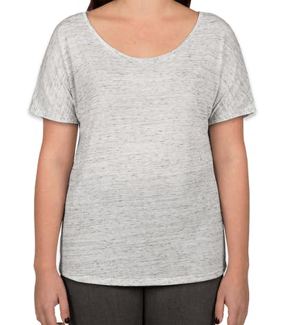 Bella + Canvas Women's Flowy Melange T-shirt - White Marble