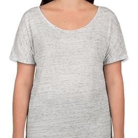 Bella + Canvas Women's Flowy Melange T-shirt - Color: White Marble