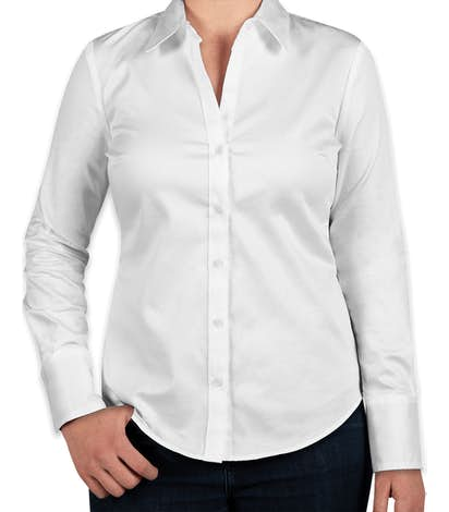Calvin Klein Women's Cotton Stretch Shirt - White
