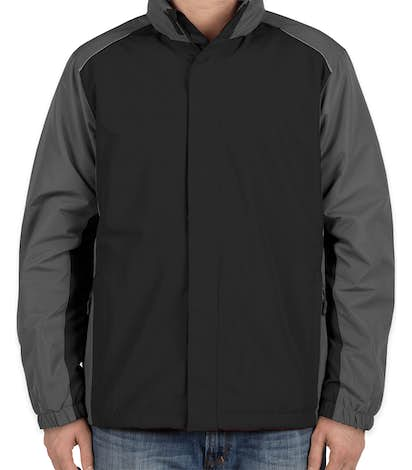 Core 365 Colorblock Fleece Lined All-Season Jacket - Black / Carbon