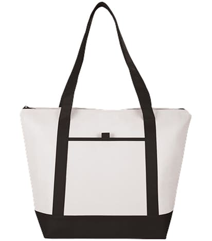 Lighthouse 24 Can Non-Woven Cooler Tote - Black