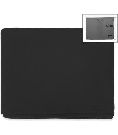 Fleece Throw Blanket - Black