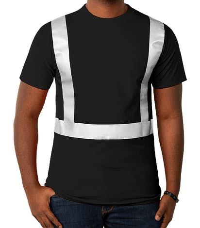 Bayside USA-Made Reflective 100% Cotton T-shirt - Black