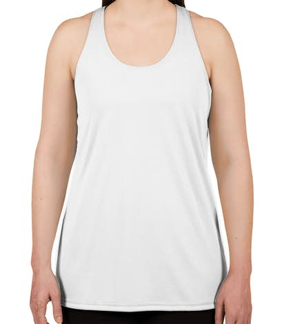 Badger Women's Performance Racerback Tank - White