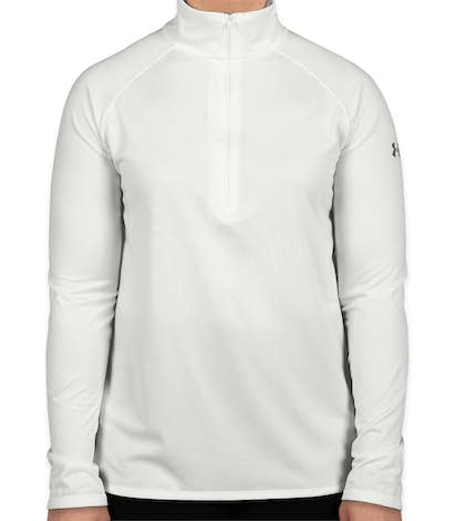 Under Armour Women's Tech Quarter Zip Shirt - White