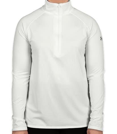 Under Armour Women's Tech Quarter Zip Performance Shirt - White