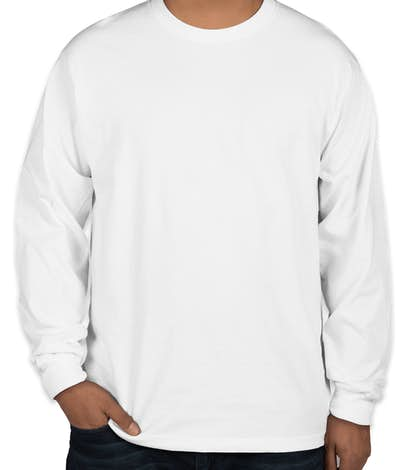 Gildan Hammer Long Sleeve T-shirt - White