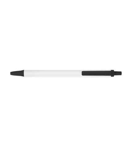 BIC Clic Stic Pen (black ink) - White / Black