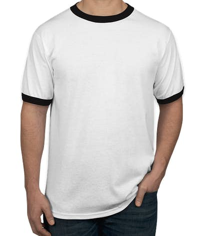 Augusta Ringer T-shirt - White / Black