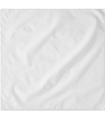 100% Solid Cotton Bandana (Centered Design) - White