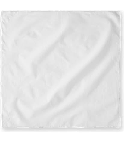 100% Cotton Solid Bandana (Centered Design) - White