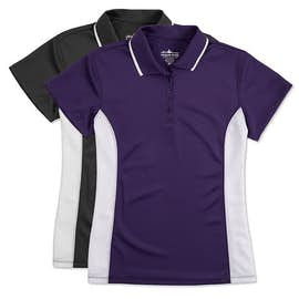 Charles River Women's Tipped Pique Performance Polo