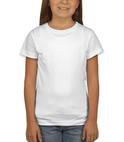 LAT Youth Girls Longer Length Jersey T-shirt - White