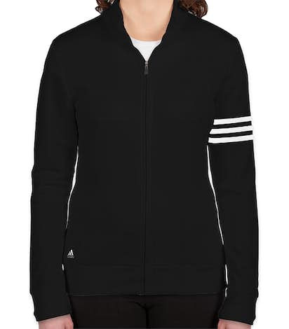 Adidas Women's ClimaLite Full Zip Performance Sweatshirt - Black / White