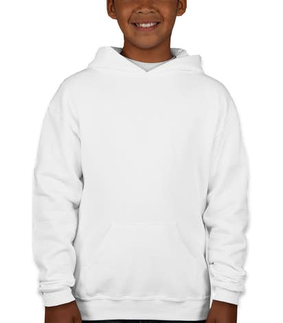 Jerzees Youth Nublend® 50/50 Pullover Hoodie - White