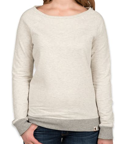 Champion Authentic Women s French Terry Crewneck Sweatshirt - Oatmeal  Heather   Oxford Grey 8141a9257df6