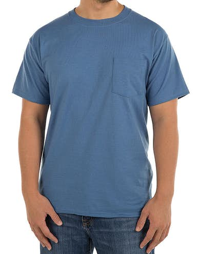 5c2c66606 Custom Hanes Beefy-T w/ Pocket - Design Short Sleeve T-shirts Online ...