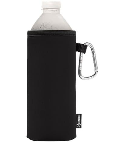 Foldable Large Bottle KOOZIE ® w/ carabiner - Black
