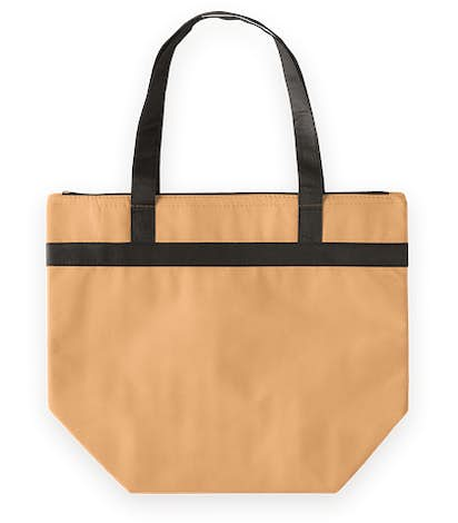 Basic Zippered Insulated Grocery Tote - Natural
