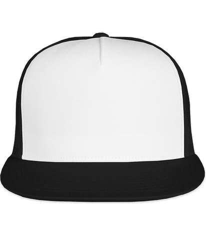 Yupoong Classic Trucker Hat - Black / White / Black