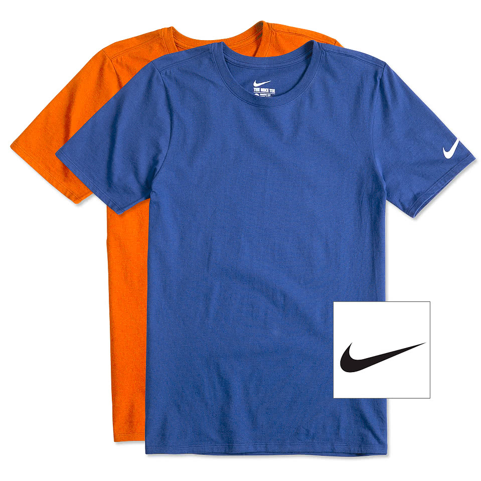 THE NIKE TEE Embroidered Logo-Swoosh Men/'s T-Shirt  ATHLETIC CUT