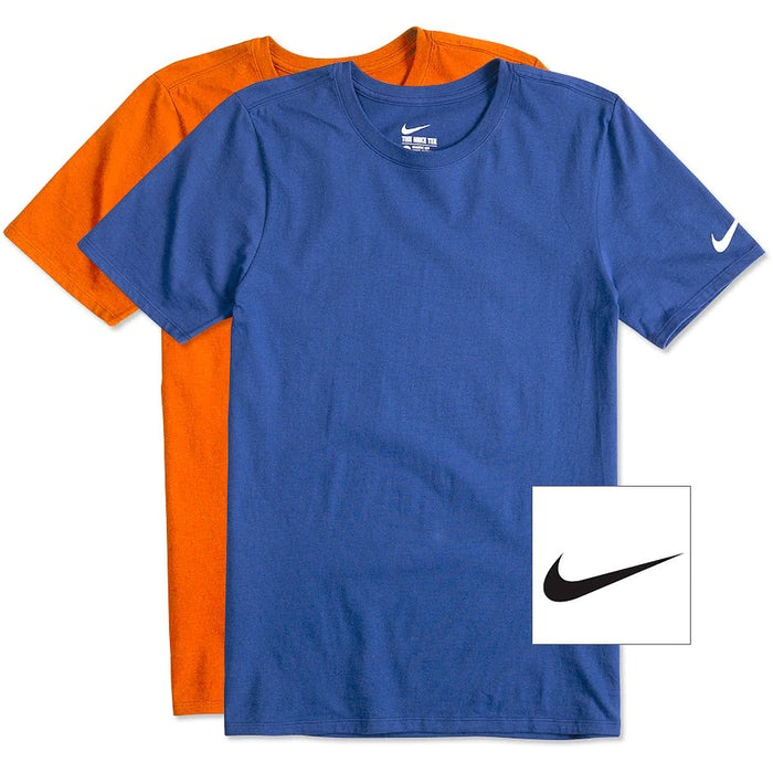 Custom Nike 100% Cotton T-shirt - Design Short Sleeve T-shirts ... c5aa7173d