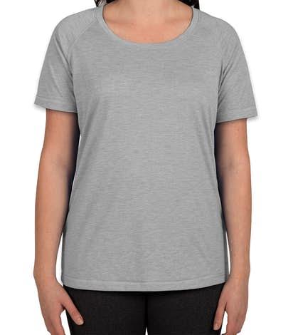 Sport-Tek Women's Tri-Blend Performance Raglan T-shirt - Light Grey Heather