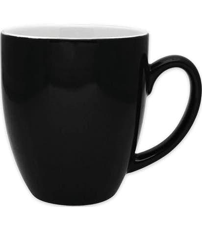 16 oz. Two-Tone Bistro Mug - Black