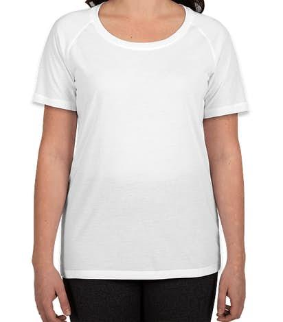 Sport-Tek Women's Tri-Blend Performance Raglan T-shirt - White
