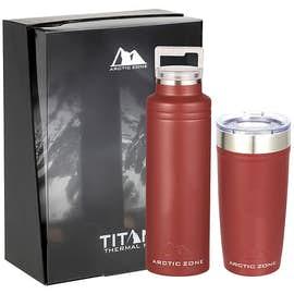 20 oz. Arctic Zone Copper Vacuum Insulated Drinkware Gift Set