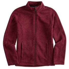 Devon & Jones Women's Full Zip Sweater Fleece Jacket