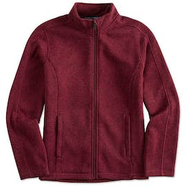 Devon & Jones Women's Full Zip Sweater Fleece Jacket
